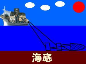 底引き漁イメージ説明漁法