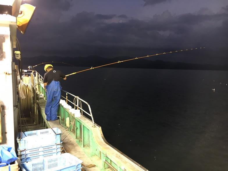 一本釣り漁の風景