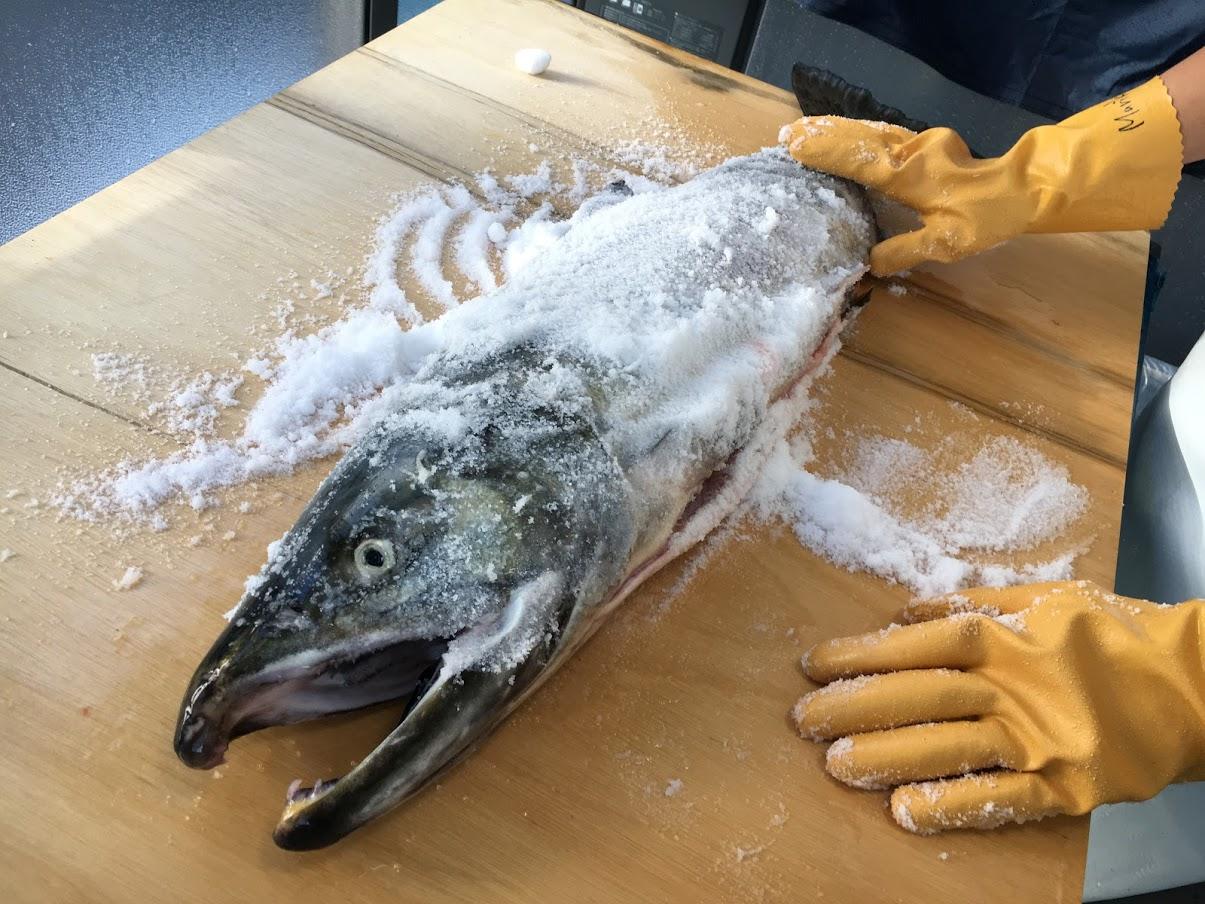 塩サケを作る工程