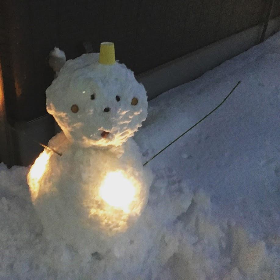 雪だるまライトアップ
