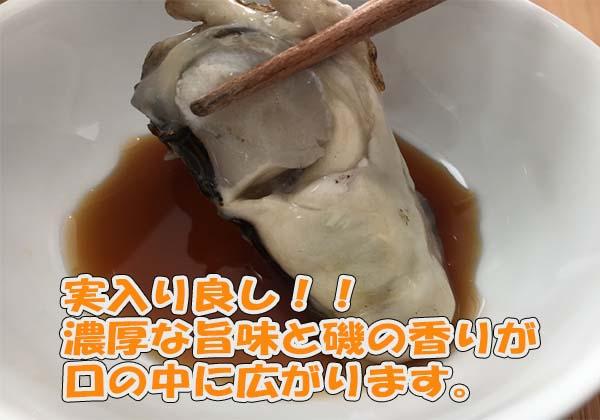 日本海の天然岩牡蠣の濃厚な旨味と磯の香りが口一杯に広がる