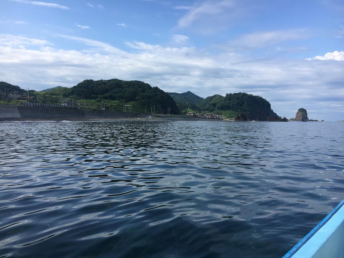 新潟県村上市の碁石海水浴場