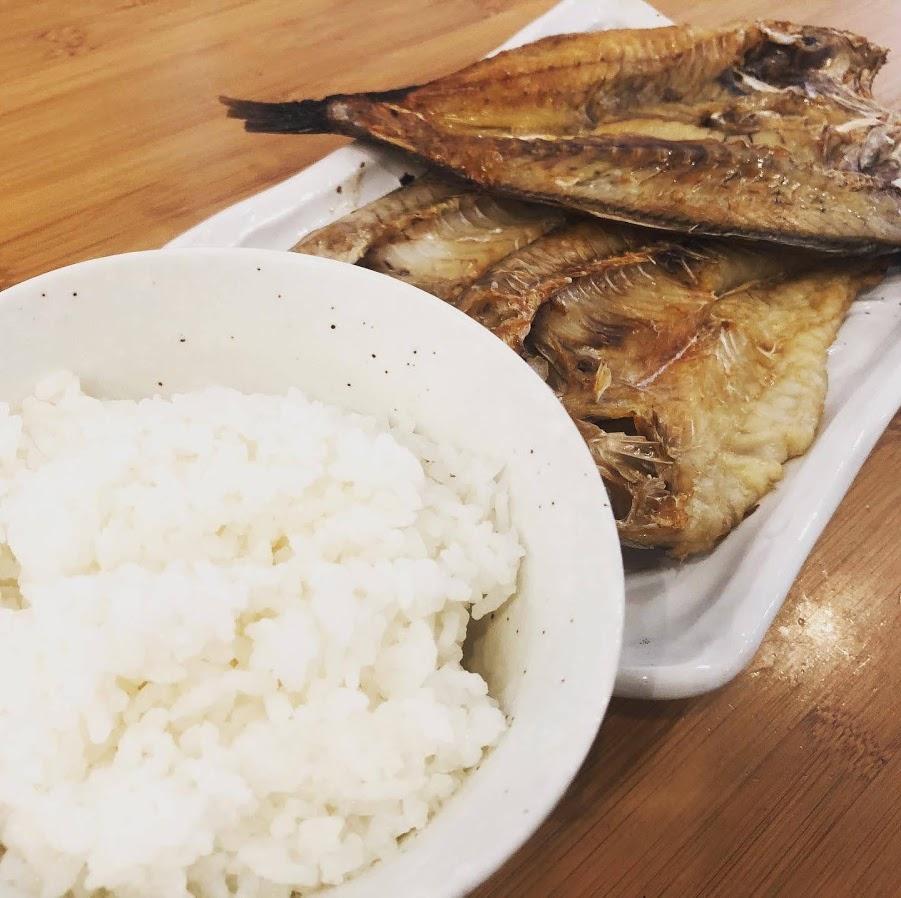 白米と干物のゴールデンコンビ